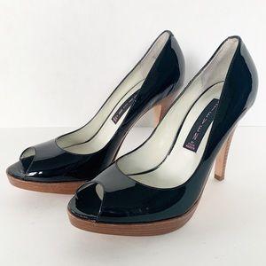 Steven by Steve Madden Black Patent Leather Heels